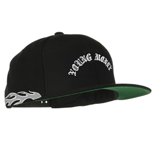 Silver Flamethrower Snapback Hat