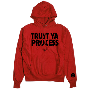 Trust Ya Process Hoodie [Red]