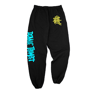 Donnie Trumpet Sweats with Yellow Lettering on Sweatpants