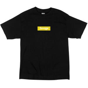 Savage Box Yellow on Black T-Shirt