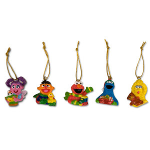Sesame Street Friends Ornament Mini 5-Pack