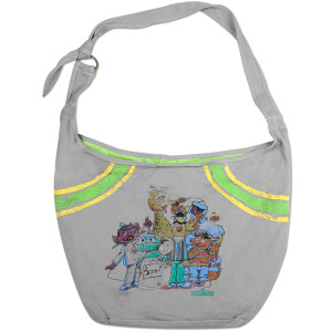 Sesame Street Juniors Grey Hobo Bag