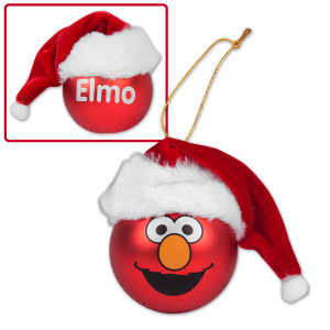 Elmo Big Face Hat Ornament