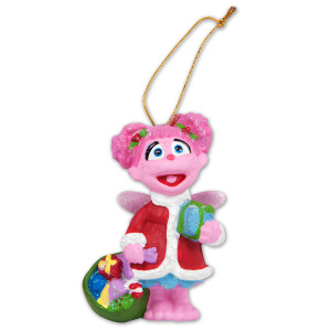 Abby Santa Ornament