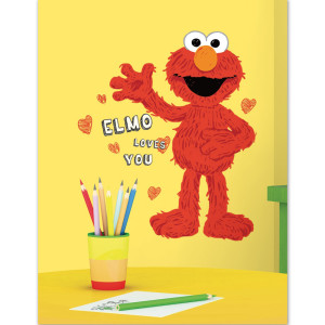 Elmo Loves You Peel and Stick Giant Wall Decal