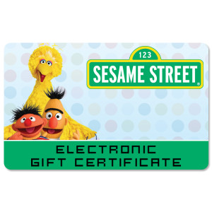 Sesame Street Electronic Gift Certificates
