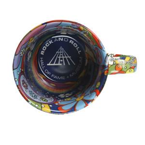 60'S Life Love And Music Dove Ceramic Mug