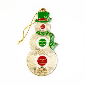 Record Snowman Ornament