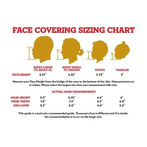 Adult Long Live Rock Face Mask