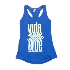 Women's Vida Blue Glitch Tank