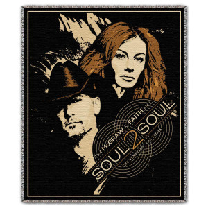 Tim McGraw Faith Hill SOUL2SOUL Throw Blanket