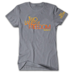 Tim McGraw Two Lanes of Freedom Ladies T-shirt