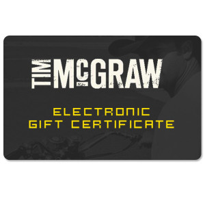 Tim McGraw Online Gift Certificate