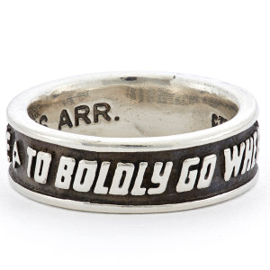 Star Trek x RockLove Sterling Mission Band In Silver - Size 12