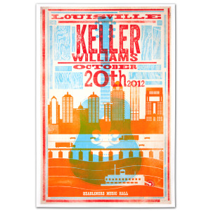 Keller Williams Louisville October 20th 2012 Poster of Guitar