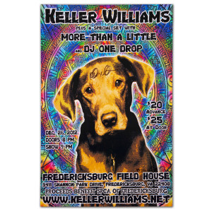 Keller Williams 2012 SPCA Poster Signed
