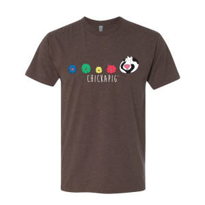 Chickapig Unisex T-Shirt - Chickapig Brown