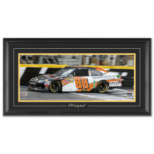 Dale Jr #88 2012 Sprint Showdown Win Framed Mini Panoramic w/ Engraved signature