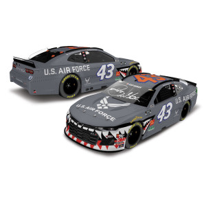 Autographed Bubba Wallace Jr. #43 Air Force Warthog 2020 NASCAR Cup Series Elite 1:24 - Die Cast