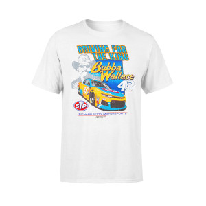 "Bubba Wallace #43 NASCAR ""Driving For The King"" Retro T-shirt"