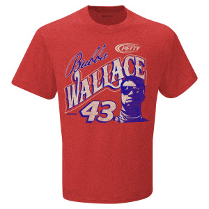 Bubba Wallace #43 NASCAR EXCLUSIVE Red T-shirt