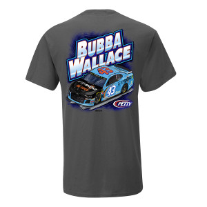 2019 NASCAR #43 Bubba Wallace Aftershokz Grey T-shirt