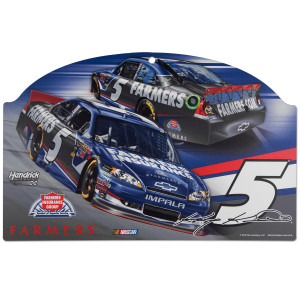 "Kasey Kahne #5 Farmers 11"" x 17"" Wood Sign"