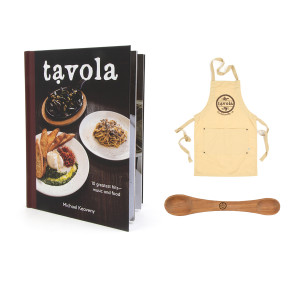 Cook Book + Apron + Spoon Bundle