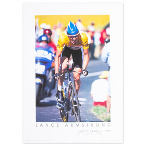 1999 Tour de France - Lance Armstrong at Futuroscope Framed Mini Poster