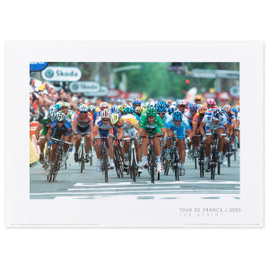 2005 Tour de France - The Sprint Mini Poster