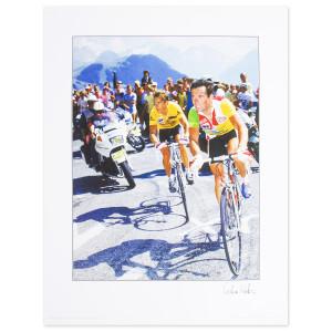 1986 Tour de France - LeMond & Hinault Poster