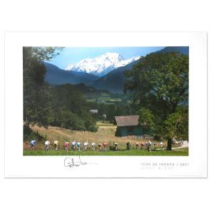 2007 Tour de France, Mont Blanc Signed Poster