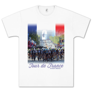Tour de France White T-Shirt