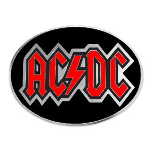 AC/DC Oval Logo Belt Buckle