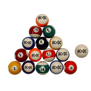 AC/DC Pool Ball Set