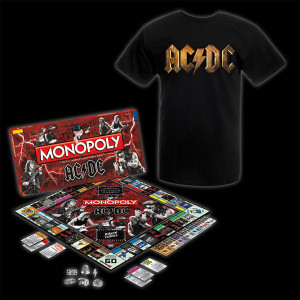 AC/DC Collector's Edition Monopoly and Tee Bundle
