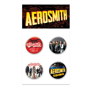 New - Aerosmith Button 4pk