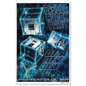 O.A.R. Minneapolis, MN July 7, 2012 Basilica Block Party Signed Poster