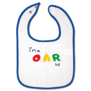 I'm an O.A.R. Kid Blue and White Bib