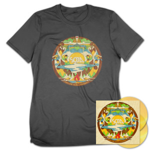 SOJA Amid the Noise and Haste 2-LP Gold Vinyl + T-Shirt Bundle