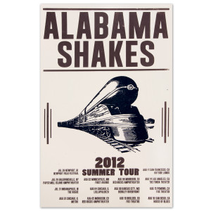 Alabama Shakes 2012 Summer Tour Poster