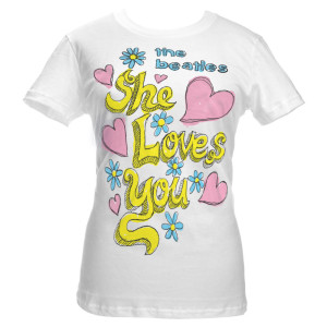 The Beatles She Loves You Women's Babydoll Shirt