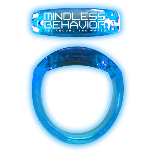 Mindless Behavior All Around The World Glow Bracelet