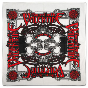 Bullet For My Valentine Temper Skull Bandana