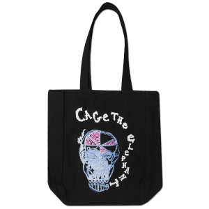 Cage The Elephant Eating Logo Canvas Tote Bag