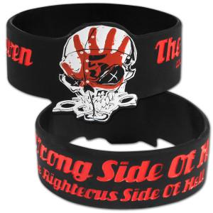 Five Finger Death Punch Wrong Side of Heaven Rubber Bracelet