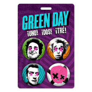 Green Day Faces Button Set