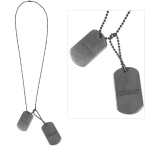 Incubus Gun Metal Dog Tags