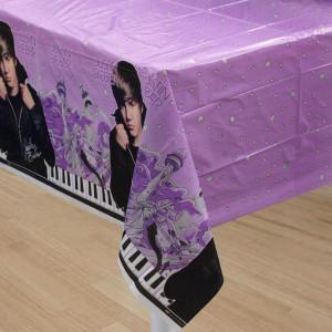 Justin Bieber Plastic Tablecover