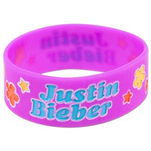 Justin Bieber Flowers Rubber Bracelet